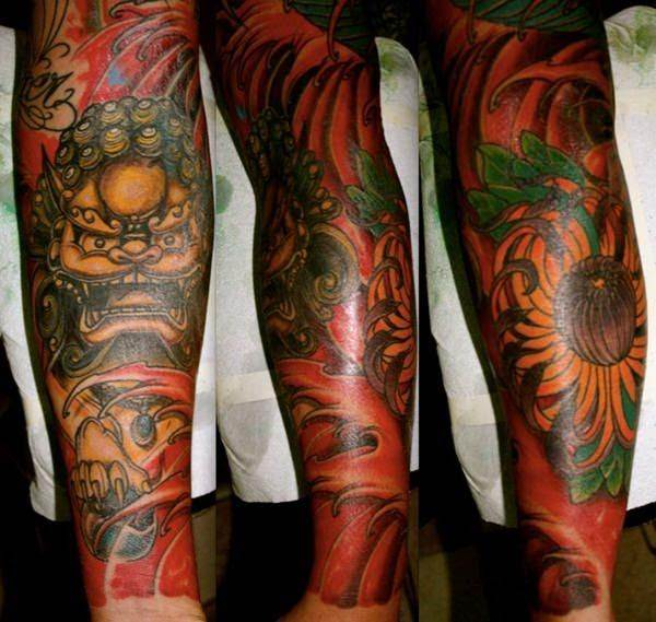 foo dog tattoos 7