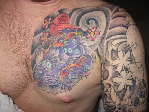 foo dog tattoos 9