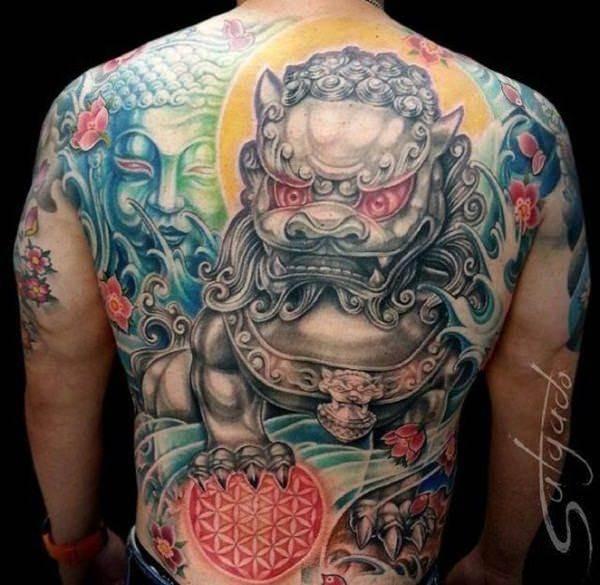 foo dog tattoos 12