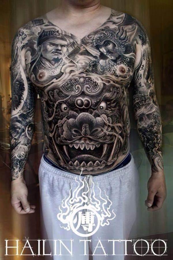 foo dog tattoos 17