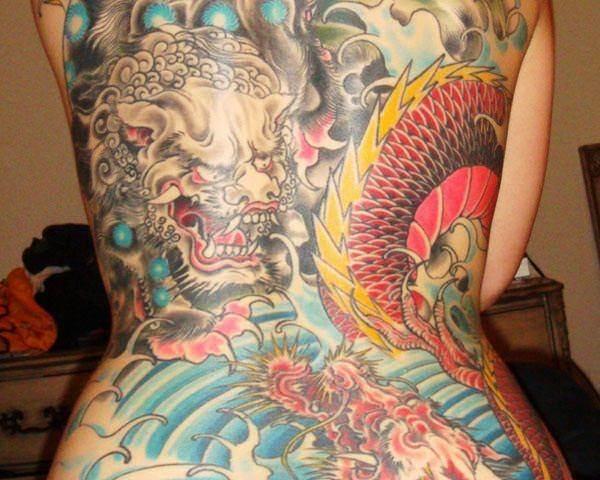foo dog tattoos 18