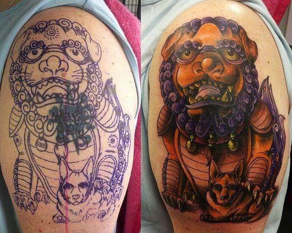 foo dog tattoos 30