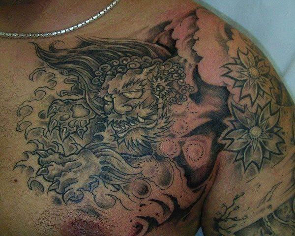 foo dog tattoos 20
