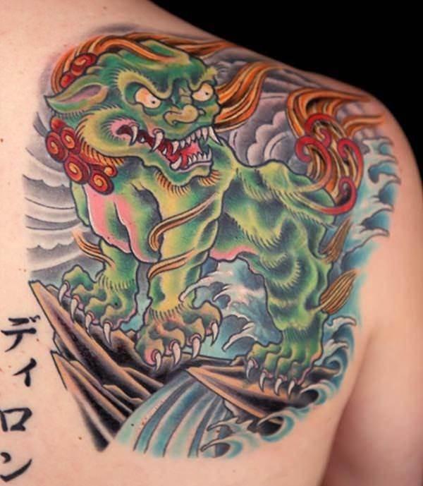 foo dog tattoos 32