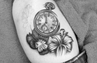 Stunning Antique Pocket Watch Tattoos