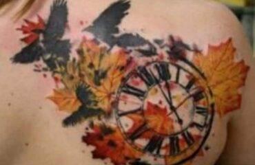 Daring but Cute Leaf Tattoo Designs
