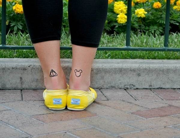 Ankle tattoo designs 43