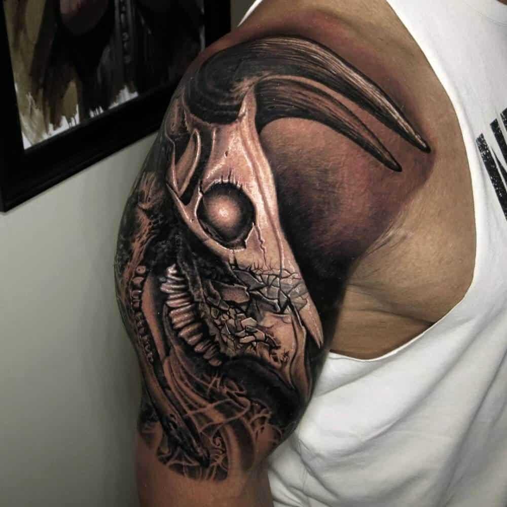 dwayne johnson bull evolution tattoo