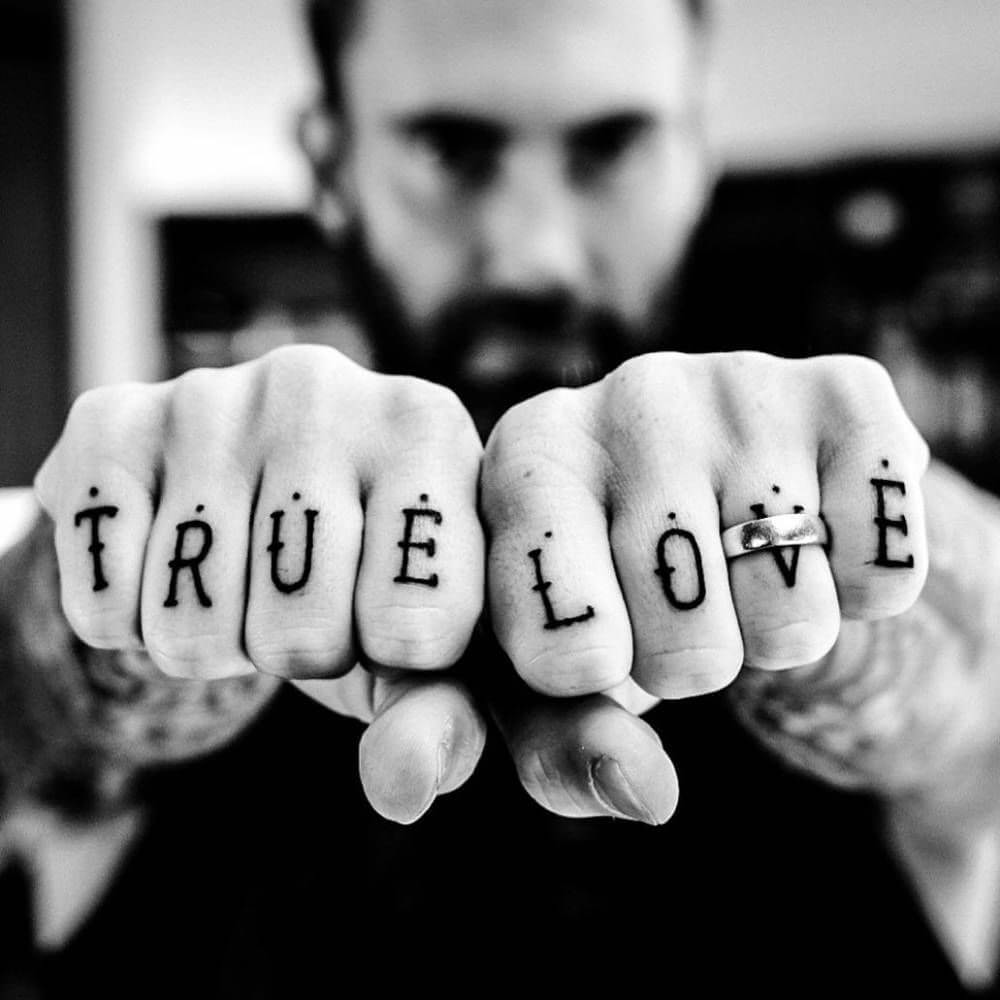 adam levine true love tattoo