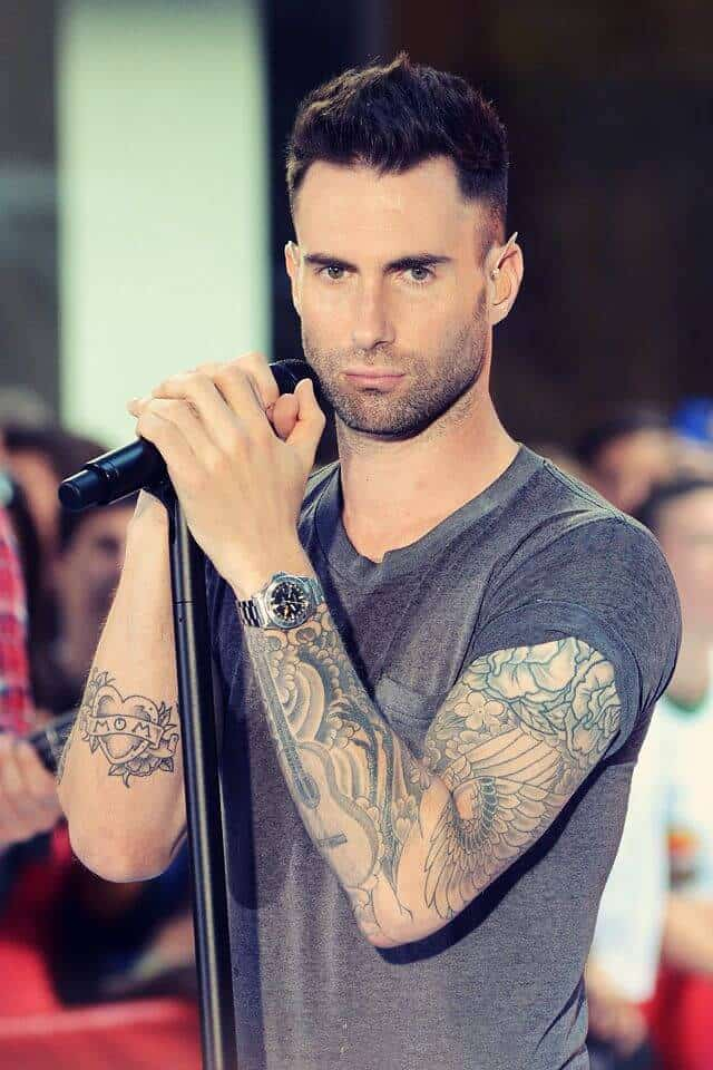 adam levine mom and heart tattoo