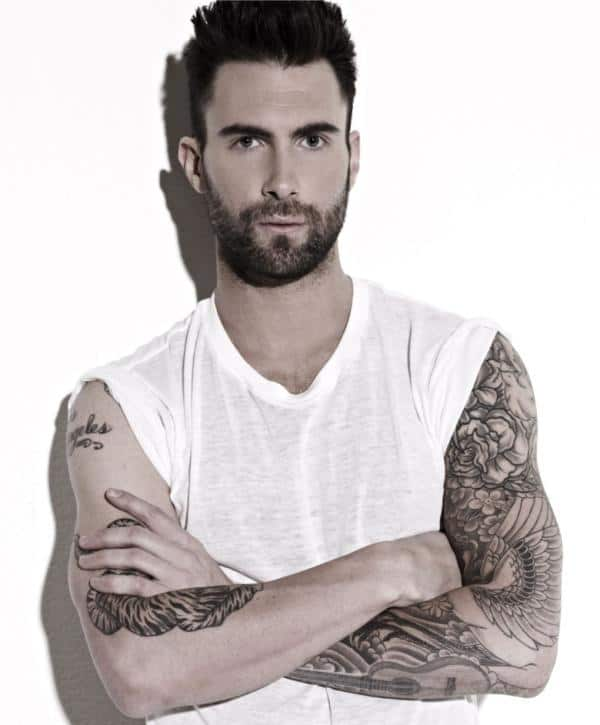 adam levine dove and cherry blossoms tattoo