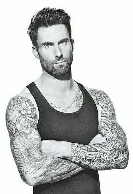 adam levine black beads tattoo