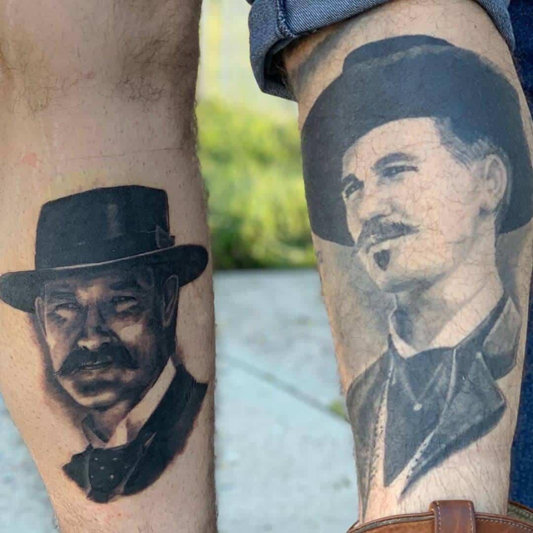 shayne smith wyat earp portrait tattoo
