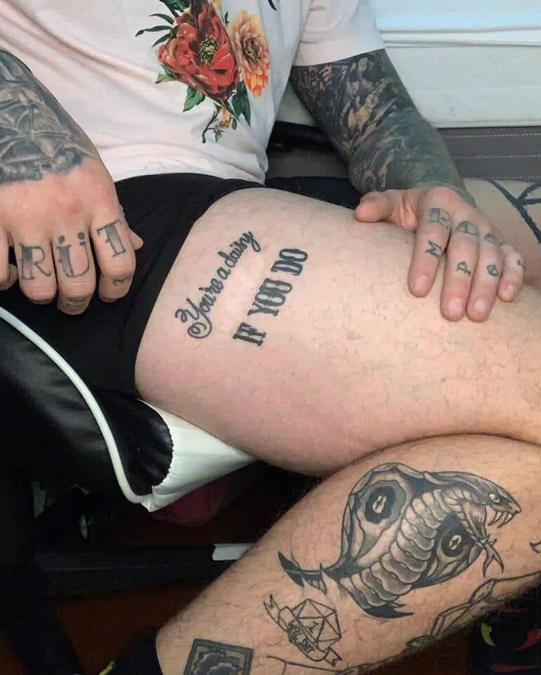shayne smith you're a daisy tattoo