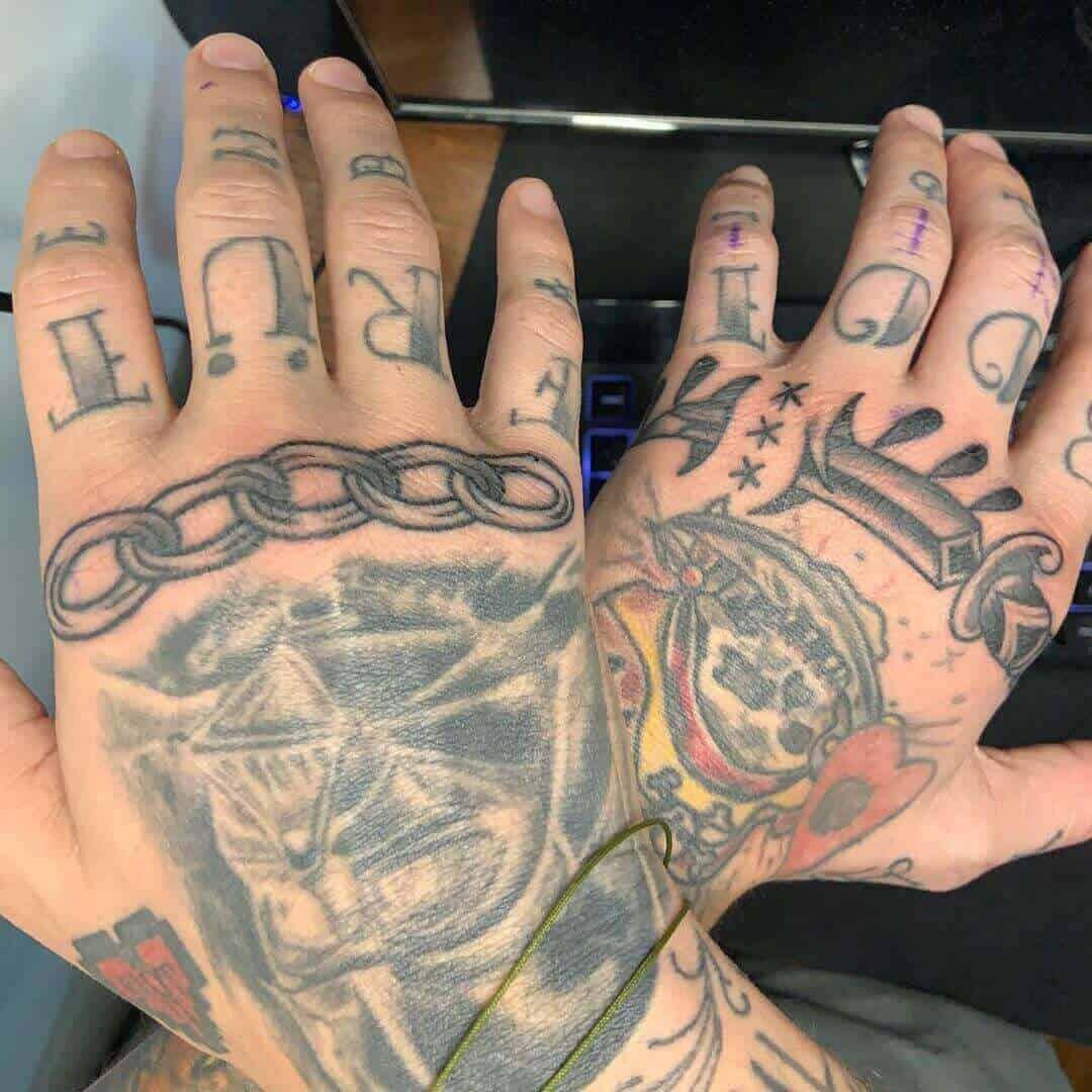shayne smith small dagger tattoo