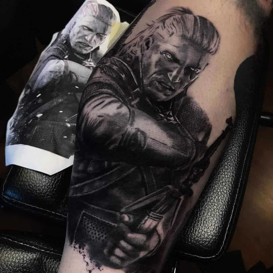 shayne smith geralt of rivia tattoo