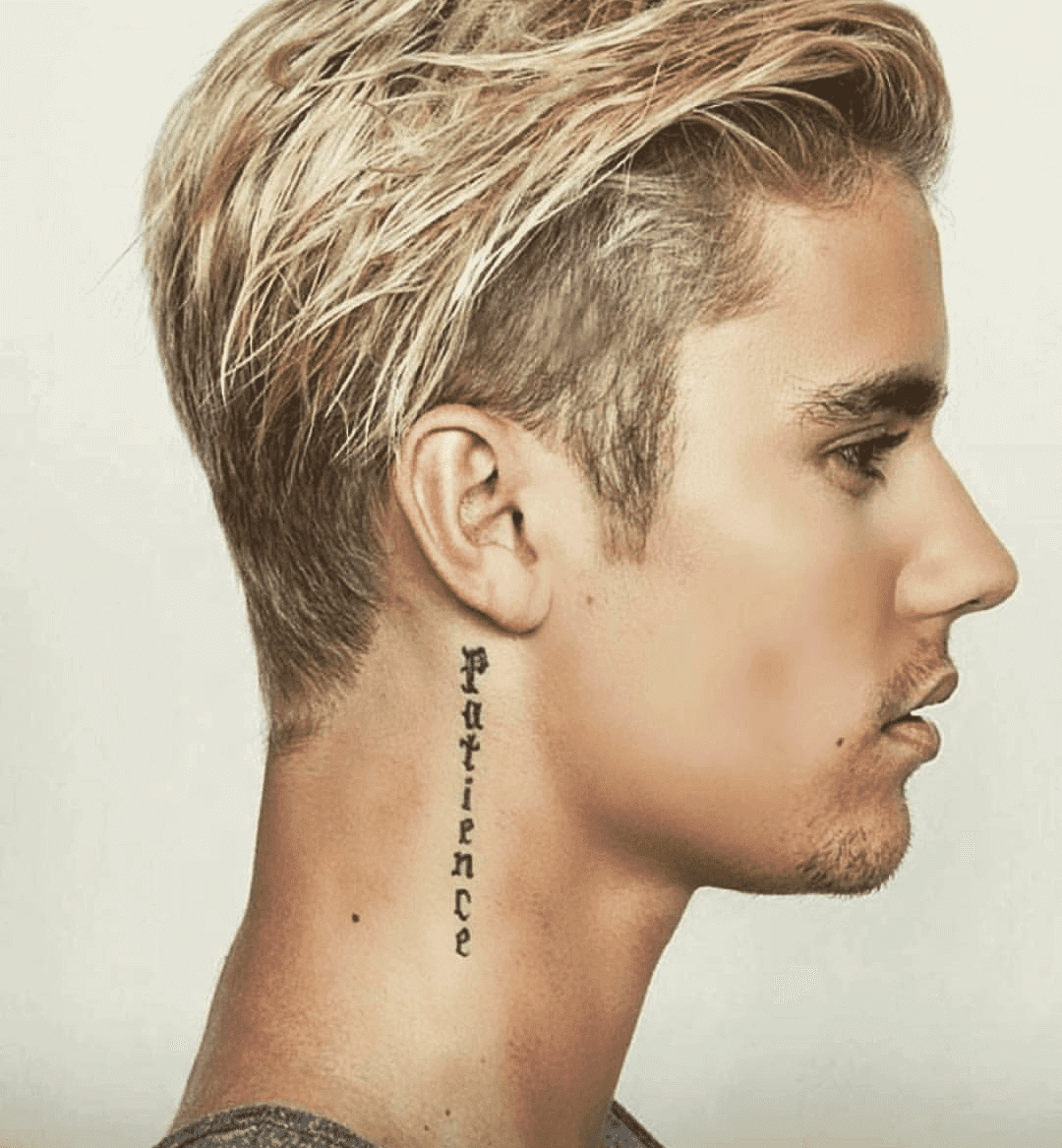 justin bieber patience tattoo
