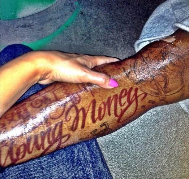 lil wayne young money tattoo
