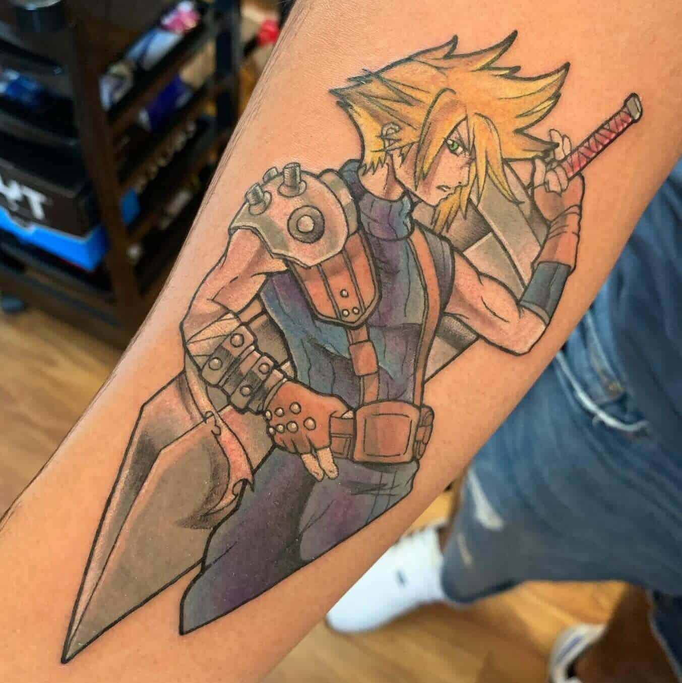 ff7 tattoo on arm