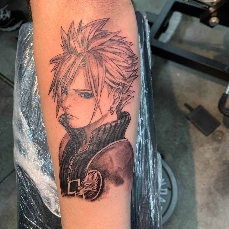 cloud strife arm tattoo