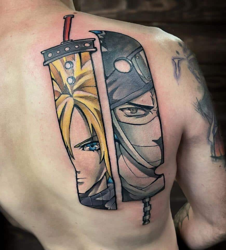 ff7 tattoo on back