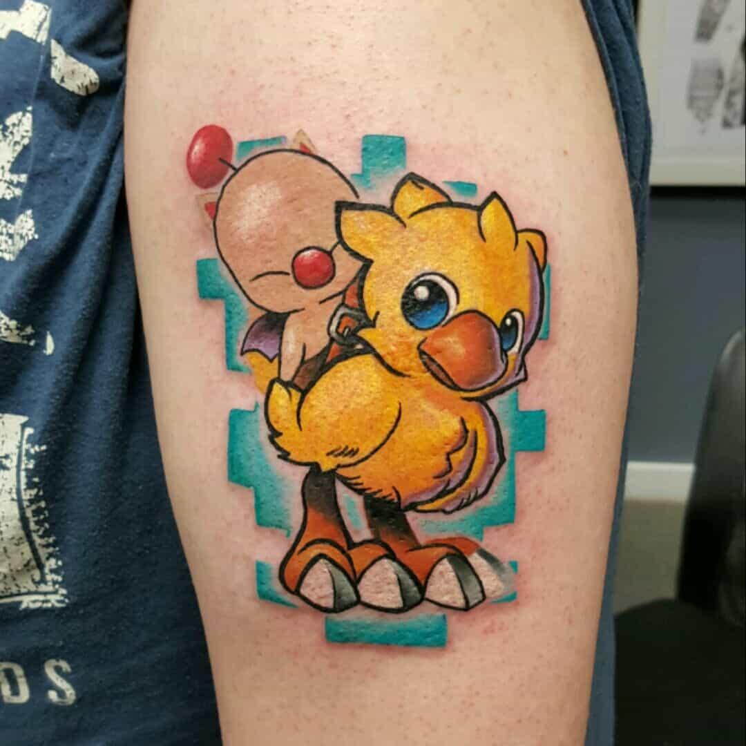 chocobo arm tattoo