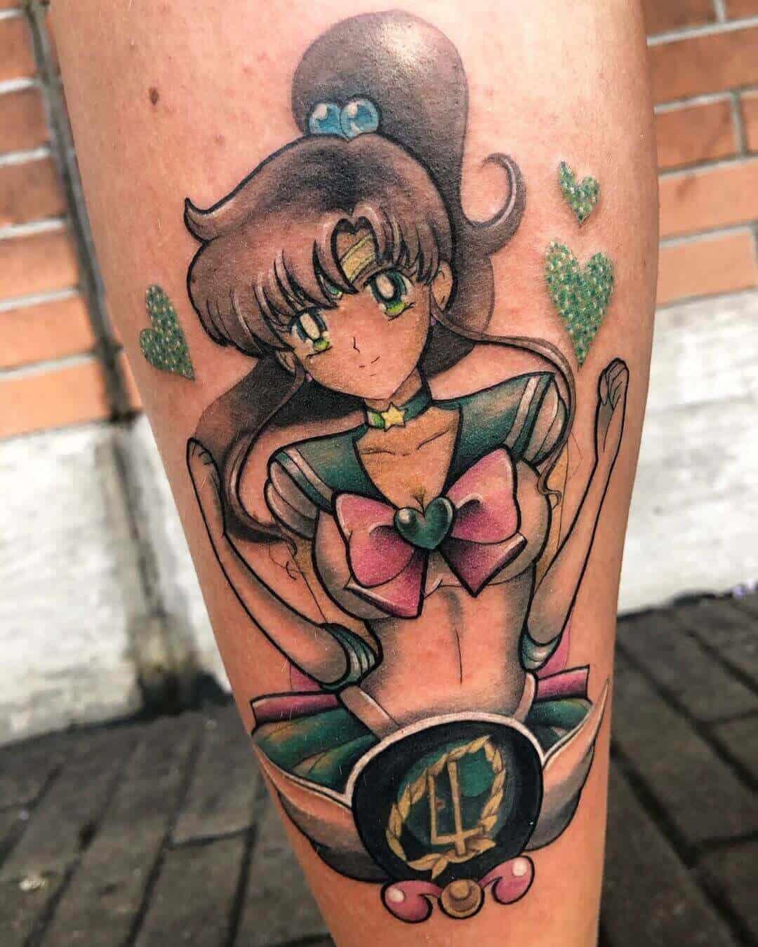 sailor jupiter leg tattoo