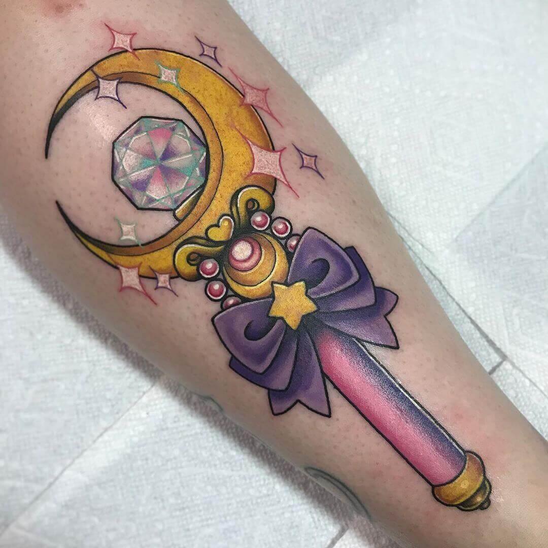 sailor moon wand tattoo