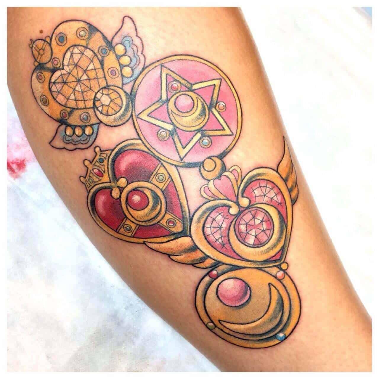 sailor moon locket tattoo