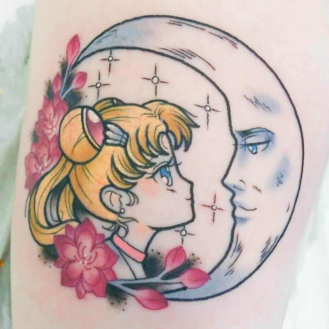 sailor moon arm tattoo