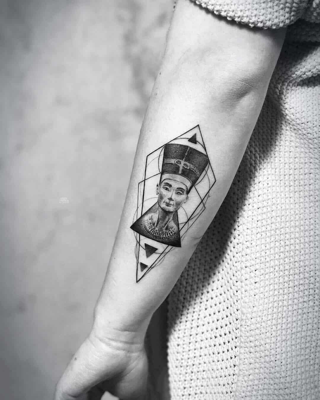 geometric egyptian tattoo