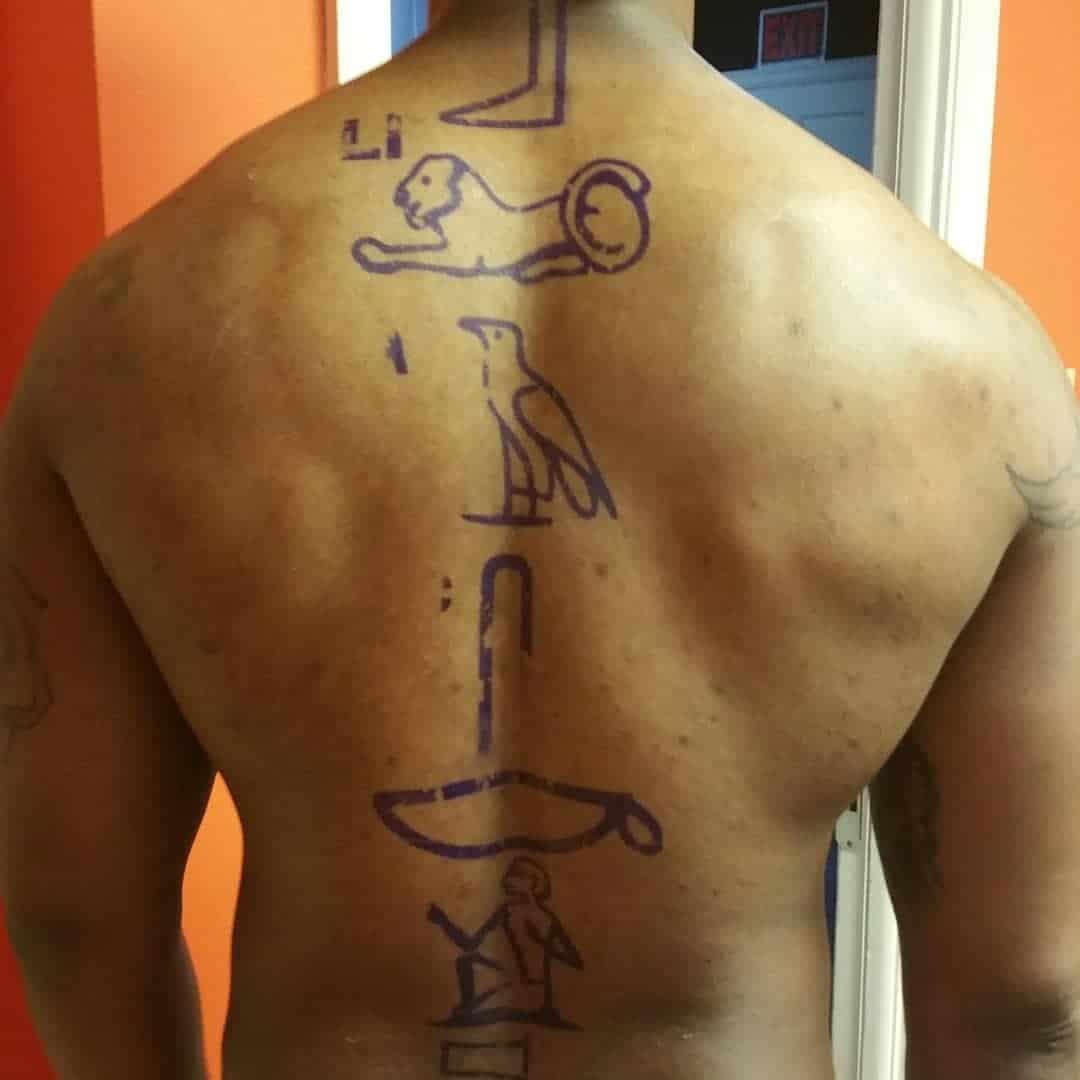hieroglyphics egyptian tattoo