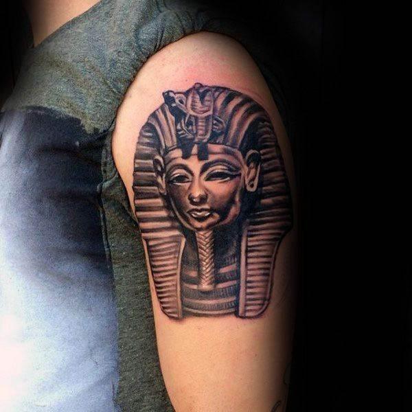 egyptian tattoo on arm