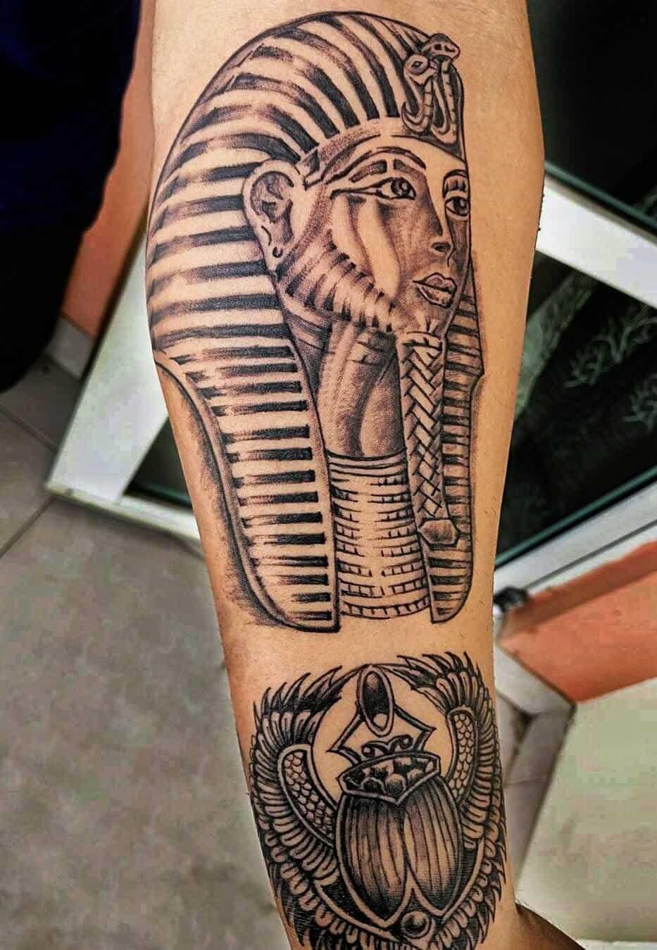 pharaoh egyptian tattoo