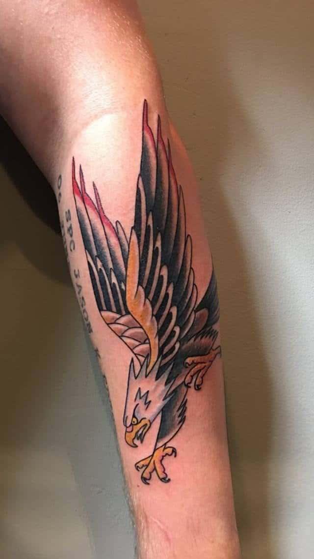 sailor jerry arm tattoo on arm