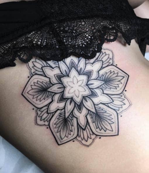 Elegant mandala flower by Sasha Masiuk