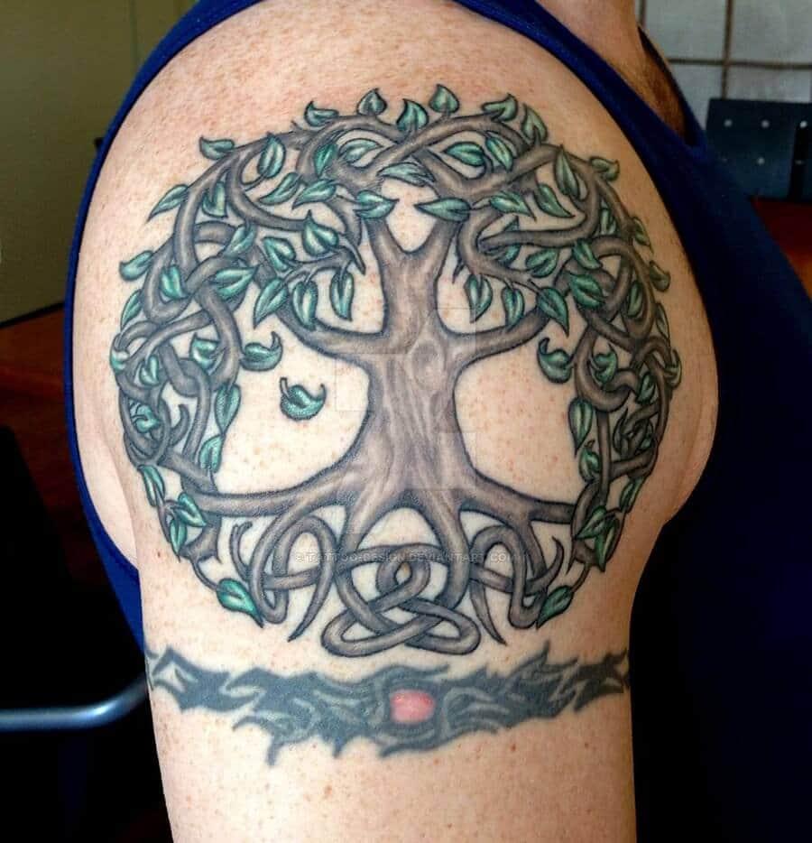 tree of life celtic tattoo on arm