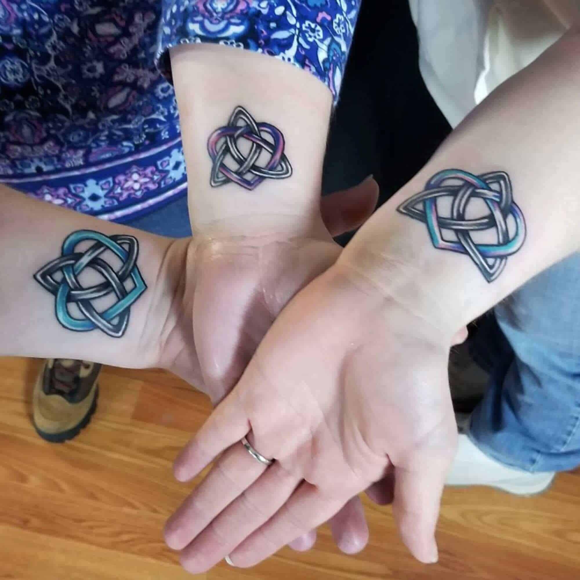 celtic wrist tattoo