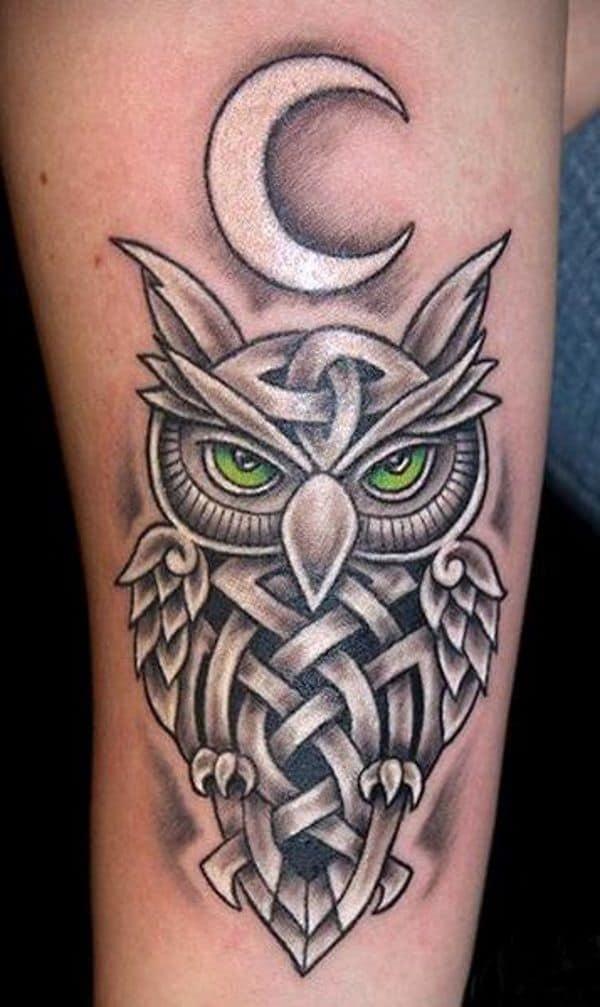 owl celtic tattoo