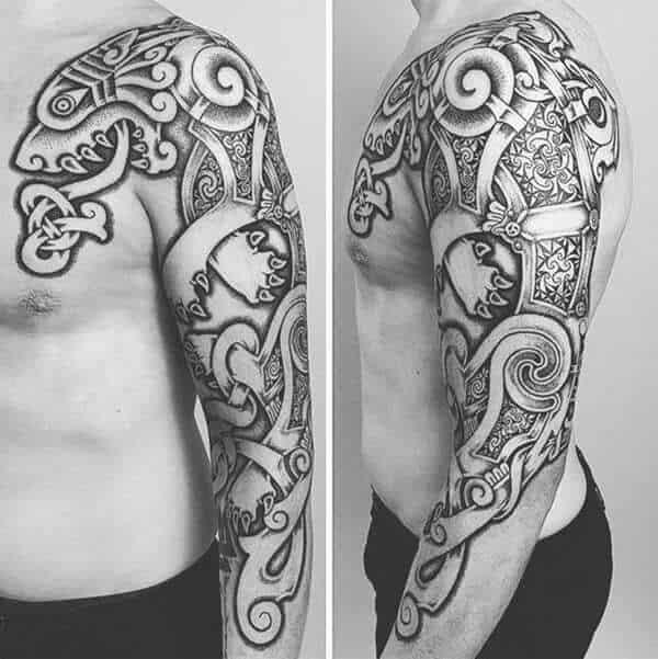 celtic arm tattoo on arm