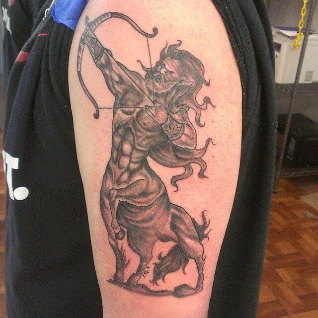 centaur sagittarius tattoo on arm
