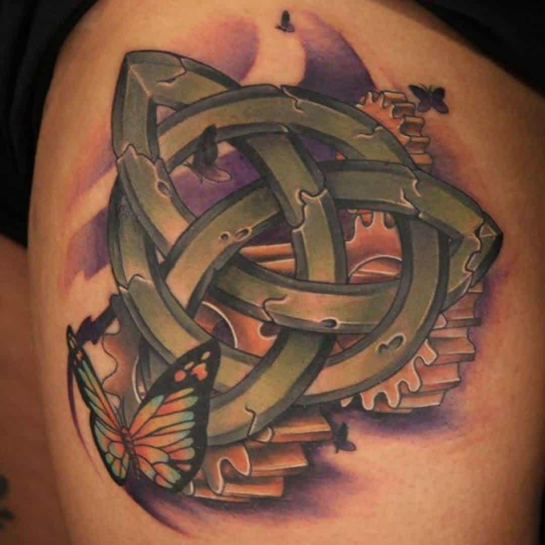 butterfly celtic tattoo