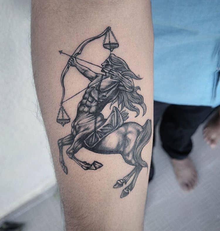 sagittarius tattoo on arm