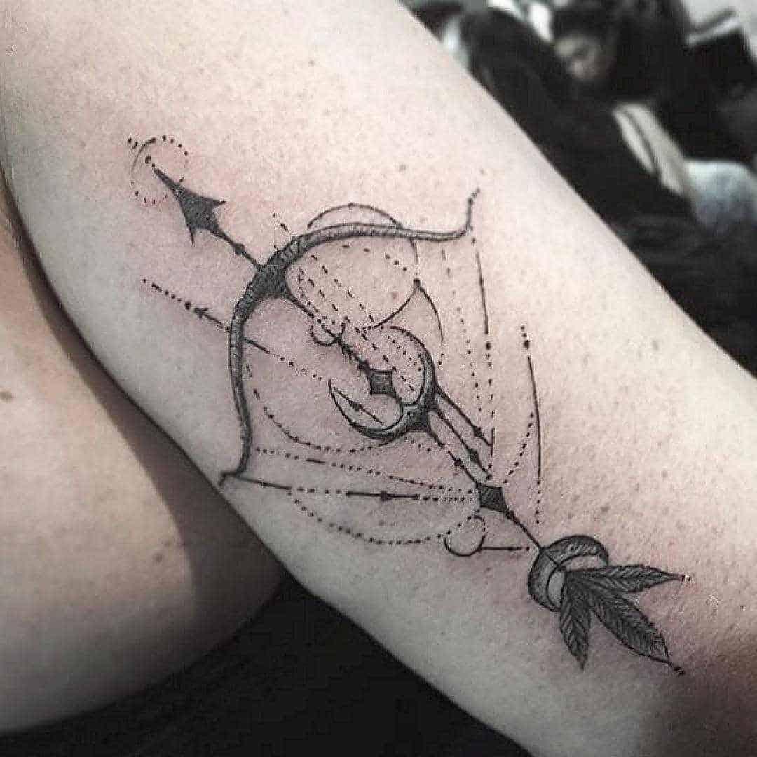 arrow sagittarius tattoo on arm