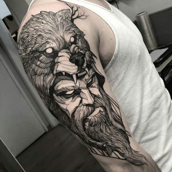 viking berserker arm tattoo