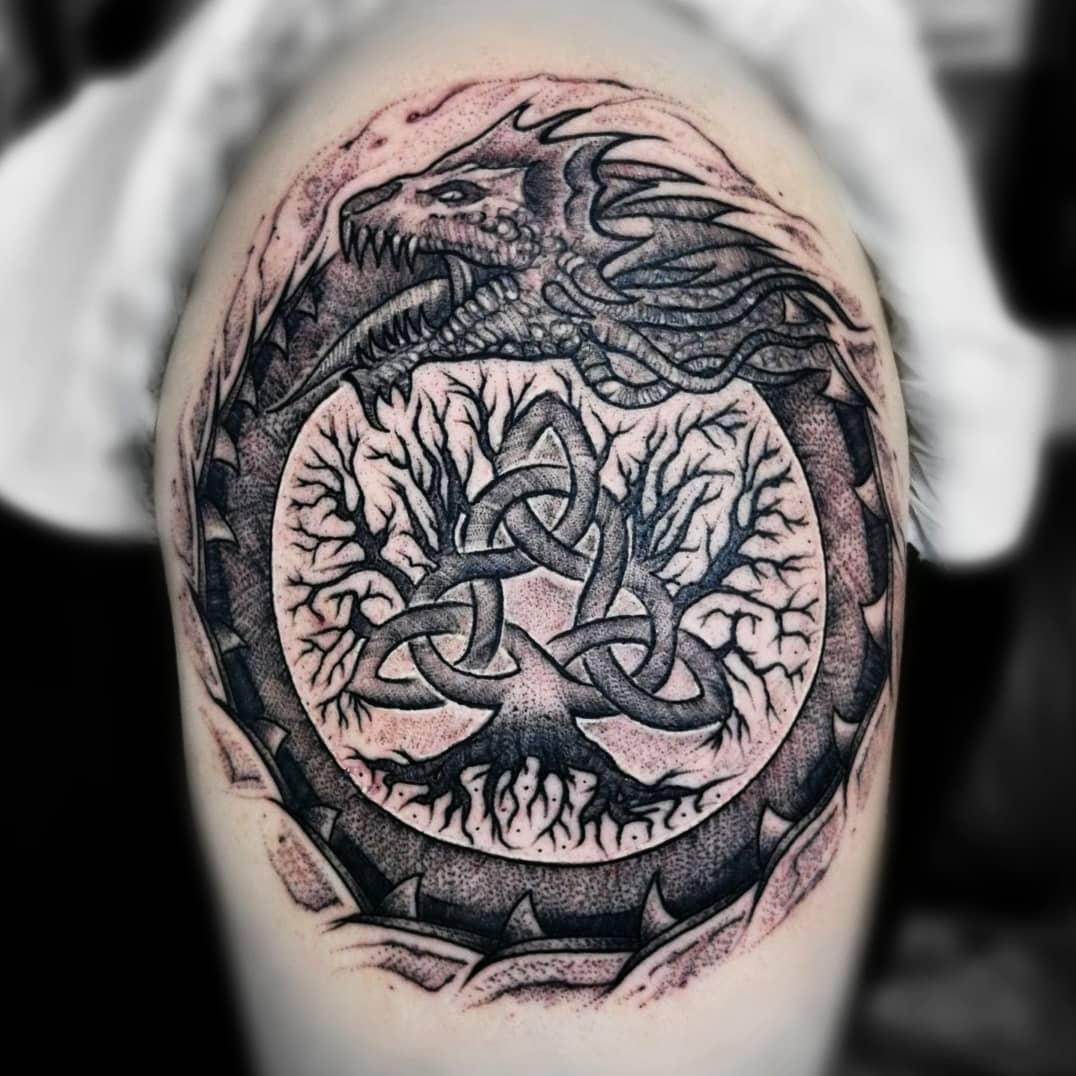 viking tree of life tattoo
