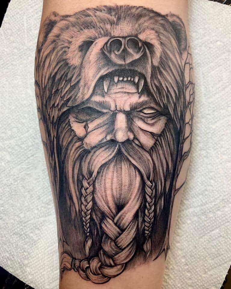 viking berserker tattoo