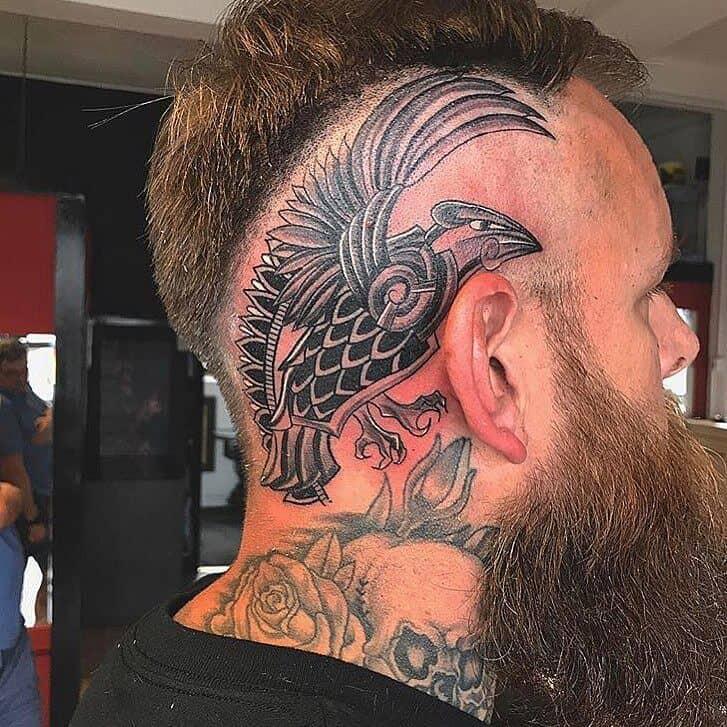 viking head tattoo