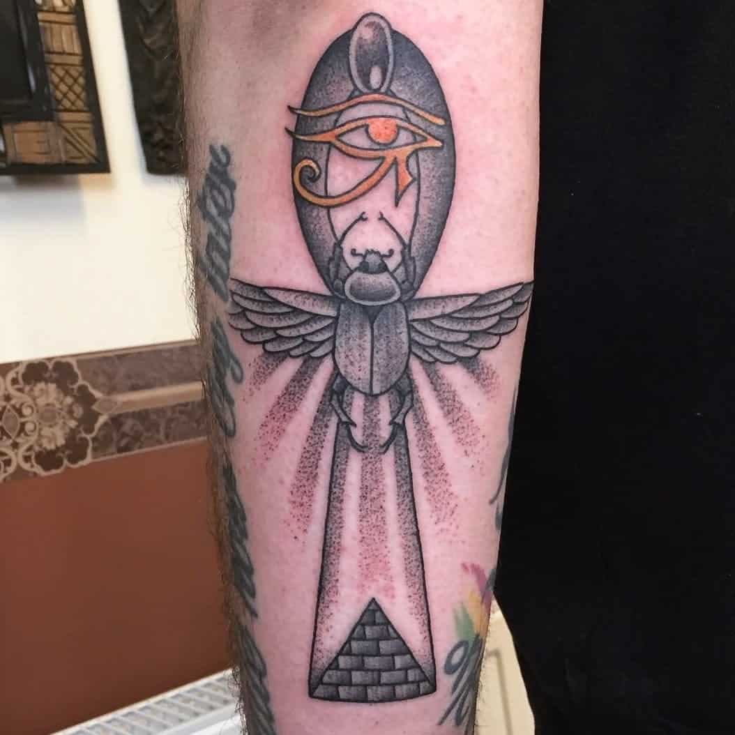 ankh tattoo on arm