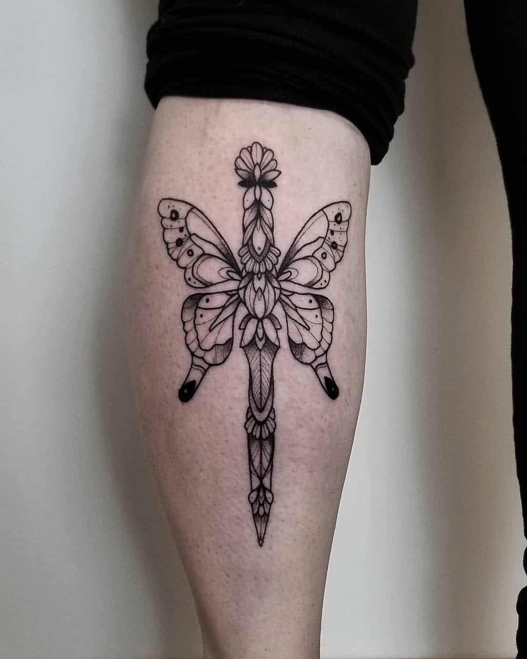 butterfly knife tattoo